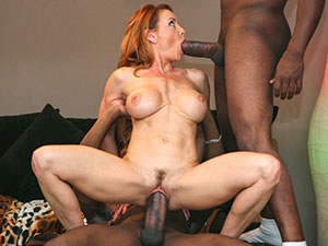 Janet holds a private Open House and takes on three guys. image 2
